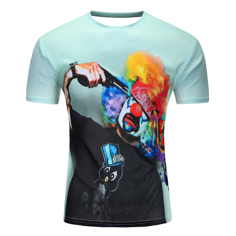 2019 oem design sublimation printed Printing 3D t shirt men's T-shirt