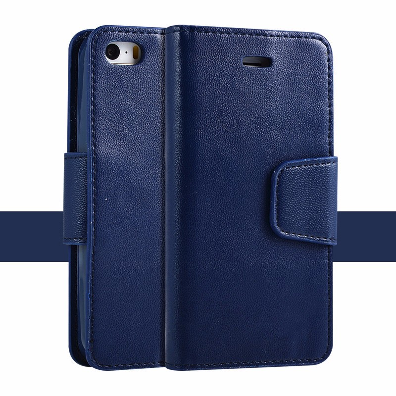 oem wallet leather flip cell phone cover case for iphone 5s
