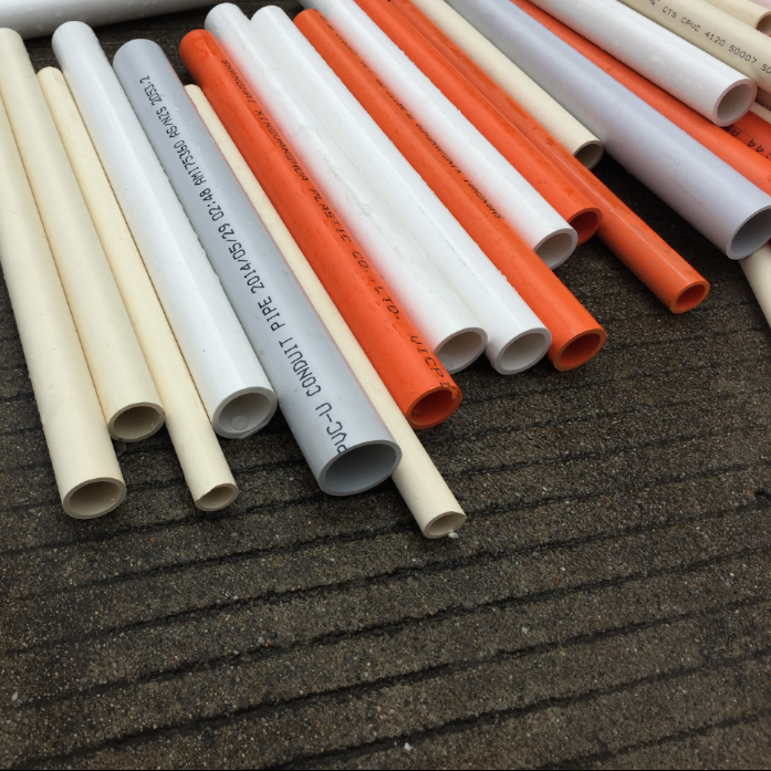 Rigid colored pvc pipe China supplier