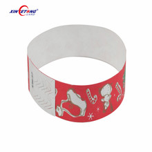 Xinyetong Printing Colorful Cheap Custom Paper RFID Wristbands