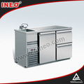 New Design Beautiful Stainless Steel Bar Refrigerated Beer Cooler Counter Or Table With Sink