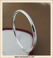 China factory handmade initial jewelry round silver bracelet italy 925 with incision ,Solid silver bracelet cheap wholesale