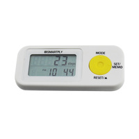 3D Sensor Pocket Pedometer Measure Walking Distance, Steps, Calories