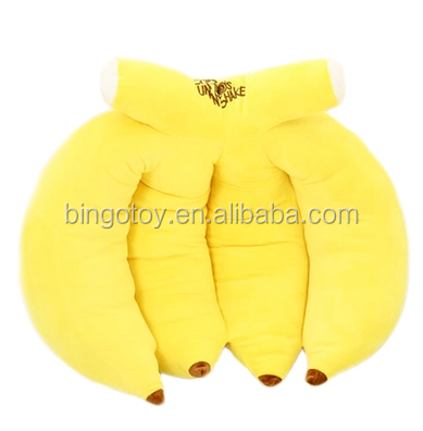 Unique design hot sales plush banana pillow unique design foam chair seat cushion plush fruit chair