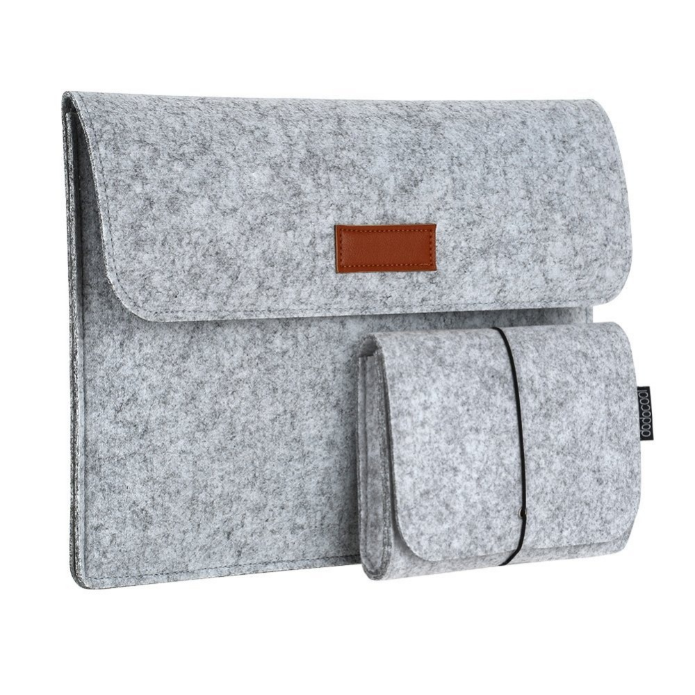 Felt Sleeve Case Cover Carrying Protective Bag with Pocket