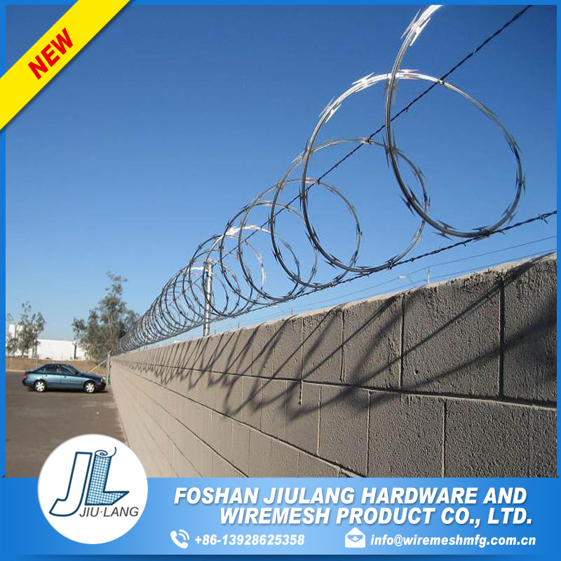 high strength galvanized low price concertina razor barbed wire