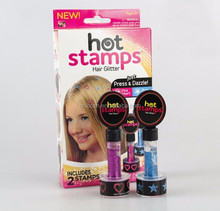 2/4 colors Hot stamps children hair glitter permanent hair color