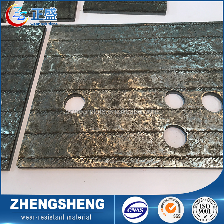 High Cr custom thick q235 wear resistant arc welding hardened carbon chrome steel plate with punch hole