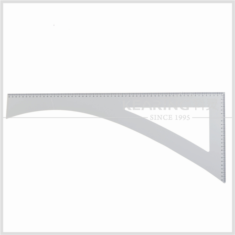 Kearing 3mm thickness big style square acrylic patternmaking design ruler#5860