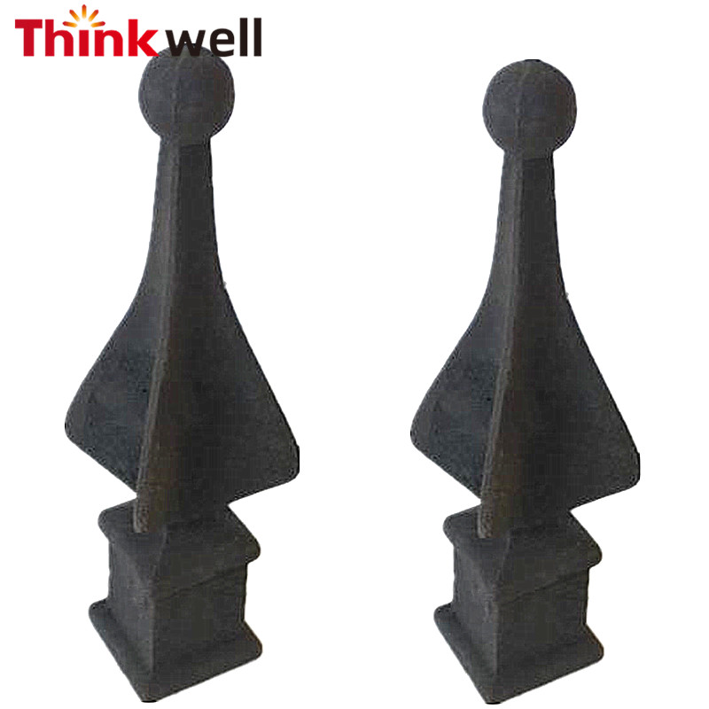 "Stock 8"" tall fits 1"" Square Post Cast Iron Finials"