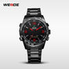 WH1009B WEIDE Stainless Steel Mens Sport Watches Wrist Watches Waterproof Sport Fashion LED Digital Watches Men