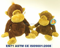 Long arms and legs kids brown plush stuffed toy monkey