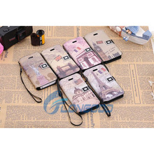 Classic Retro Horizontal Magnetic leather belt clip flip wallet case for iphone 5 5G