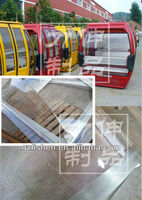 plastic polycarbonate clear windshield for cable car