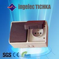 weather protected surface socket,waterproof isolator switch socket