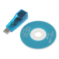 Wholesale 1pcs USB 2.0 to RJ45 Lan Network Ethernet Adapter Card For Mac Tablet pc Win 7 8 XP 100Mbps