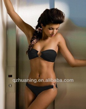 young girls black micro brazilian bikini cups