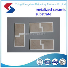 Metallized ceramic /alumina substrate for electronic equipment /ceramic parts