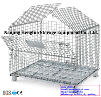 Hengtuo Manufacturer Collapsible Storage Welded Metal Wire Cage