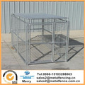 5'X10'X6'H single dog run outside steel welded kennels with roof shelter
