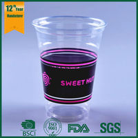 16oz plastic cups with lids and straws,temperature color change cup,plastic drinkware