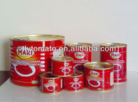 health food 100% purity canned tomato paste/tomato sauce/ketchup factory
