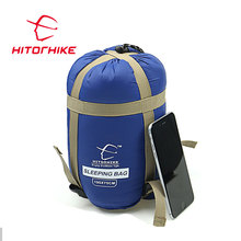 Hitorhike sky blue 190*150cm portable outing hiking sleeping bag cotton waterproof sleeping bag