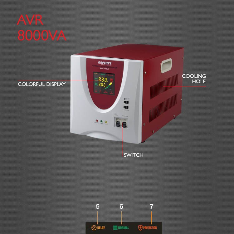 YIY PLC programmed single phase 8kw voltage stabilizer//8kva voltage stabilizer single phase