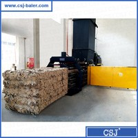 Nantong Jiabao horizontal automatic waste paper boxes compactor for sale