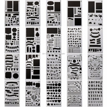 New style customzied DIY Plastic art Stencil 20 Pack 4x7 Inch Drawing Template Stencil drawing custom stencils Journaling