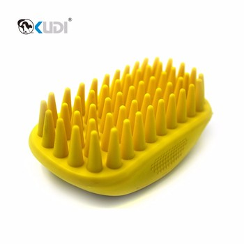 Hot sale pet massage brush, pet bathing brush with firm pins
