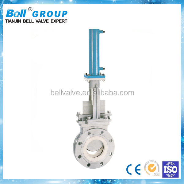 DN125 Hydraulic Ceramic Knife Gate Valve