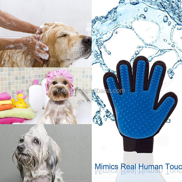 OXGIFT China Wholesale Factory Price Amazon Pet supplies Cat dog Silicone Grooming Products massage Bath Cleaning gloves
