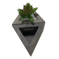 Triangle plain or bare concrete decorative indoor flower pots