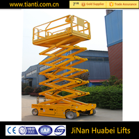 high quality hydraulic self propelled scissor mobile elevator platform