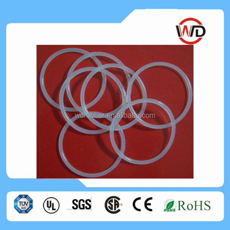 ISO 3601, AS 568A standard different sizes translucent silicone rubber o ring