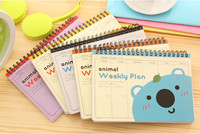 School Diary Notebook Paper Spiral Novelty Notepad Journal Planner Day Scheduler Mini Cute Notebook Stationery Supplies 2016