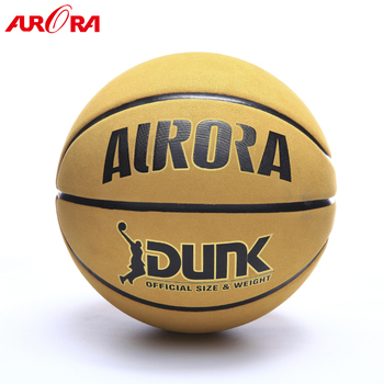 High quality Yellow Cow leather men basketball  Size 7 games ball