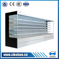 supermarket plug in wall type multi deck showcase