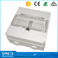 YOUU Electrical Switchgear Manufacturer IP66 RCD Enclosure 8P Without Light Indicator Waterproof Switch Bo