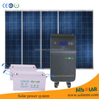 solar electricity generating system for home flat roof solar panel stand