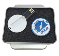 mini rotation card usb pen drive with full colors