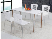 High gloss cafe and restaurant furniture dining coffee table and chair (FOH-BC32A)