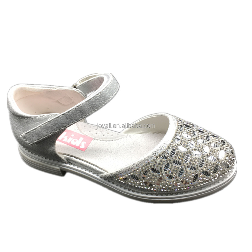 silver sparkle dance shoes Girls twinkle Wedding Party shoes elegant charming dress shoes