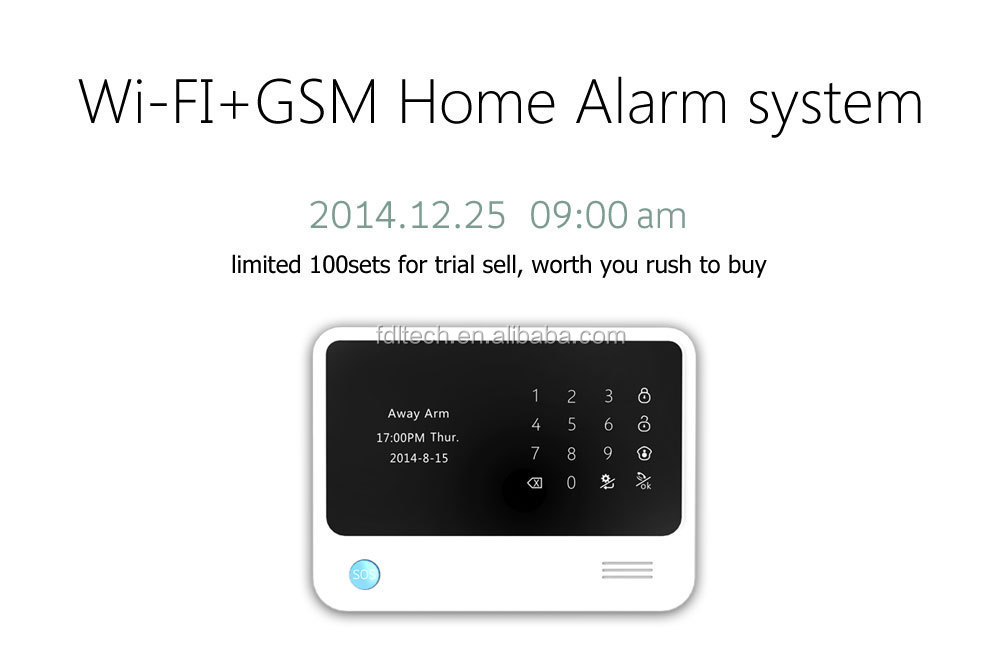 Most advanced wireless fire/burglar/SOS emergency home security alarm system G90B wifi gsm network