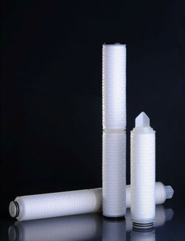 Nylon 0.22 micron filter cartridge in the nimeral water plant machinery