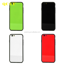 New Design Hard TPU and PC Stick Glass Cell Phone Case for iphone 6 plus