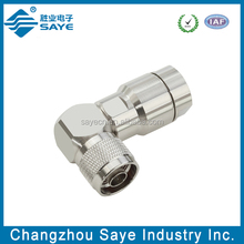 n male clamp right angle rg213 connector