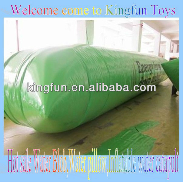 Green Inflatable laker water blob/aqua jumping pillow for sale