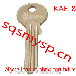 G138 Iron Steel Custom Locksmith KAE-8 door key blanks wholesale